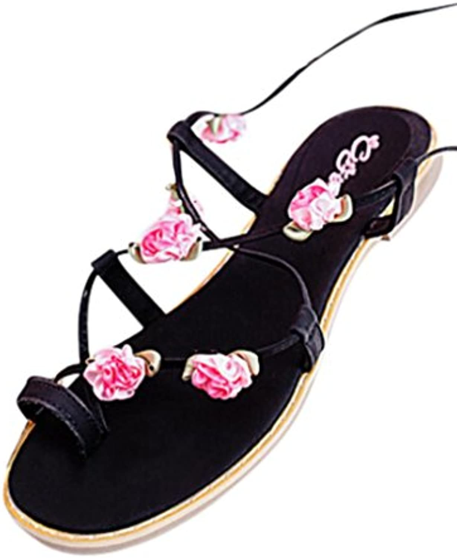 et # 10047; cheng femmes et # 10047; les femmes cheng des sandales, mesdames de la bohème de bandages tong gladiateur sandales flats chaussures pom - pom rome sandale décontractée... 56c1df