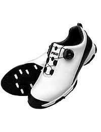 FUBULE Zapatos de Golf Punta-Menos los Zapatos Impermeables Deslizamiento rotación botón de Resistencia a la abrasión Exterior Multifuncional
