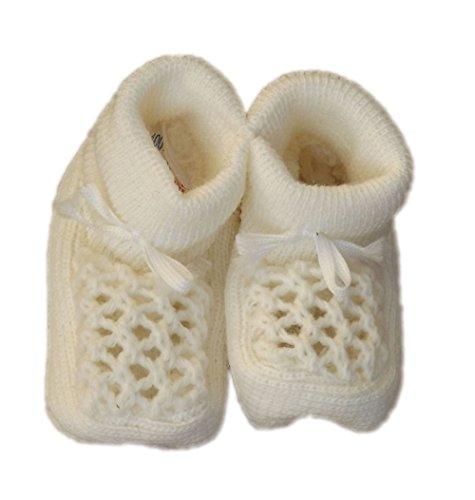 Nursery Time-Chaussons de naissance fille ou garçon, crèmes.