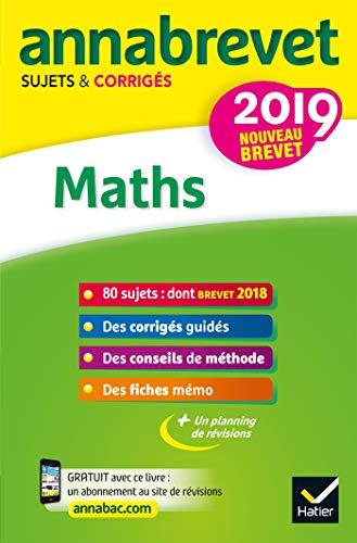 Annales du brevet Annabrevet 2019 Maths 3e : 90 sujets corrigés (French Edition) de