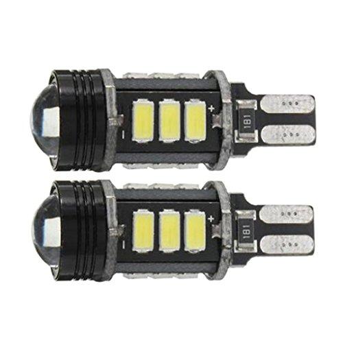 Sharplace 2pcs LED Ampoule Lampe Feu Arrière Aucune Erreur Canbus T15 W16W 5630 COB 15-LED Lumière