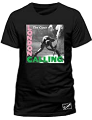 The Clash THE CLASH - LONDON CALLING (BLACK) - T-shirt - Col ras du cou - Manches courtes - Homme
