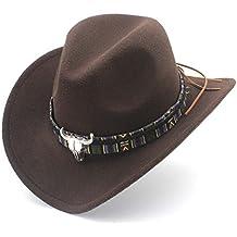 GHC Gorras y Sombreros para Las Mujeres de Moda los Hombres del Sombrero de  Vaquero Occidental 9b0e0cd8f88