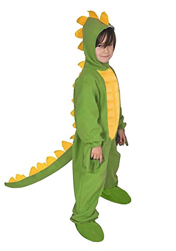 Dino Kostüm Dinosaurier - Dinosaurier Grün Dino Drache Kinder Kostüm 122 - 128 für Fasching Karneval Rummelpott Kinderkostüm