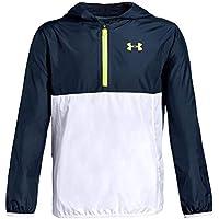 Under Armour Packable 1/2 Zip Jacket Parte Superior del Calentamiento, Niños, Azul, YLG