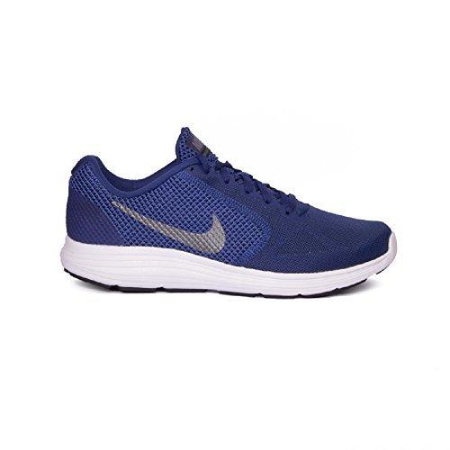 NIKE Men's Blue Revolution 3 (GS) Running Shoes