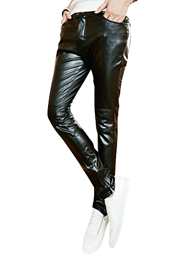 uomini pantaloni casual Botoni Slim moto Pantaloni dell'uomo metrosexual essenziale puro