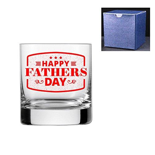 fantaisie gravé/imprimé Verre à whisky - Happy fête des pères, Red, Do Not Engrave A Message On The Reverse Side