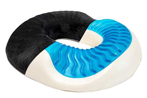 ovatives Gel-Donut Sitzkissen zur Entlastung des Steißbeins ()