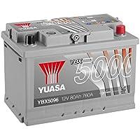 Yuasa YBX5096 Batería de coche Silver 12V 80Ah 760A