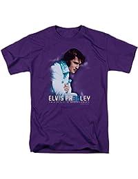 Elvis Presley - Herren 35. Jahrestag 2 T-Shirt in Lila