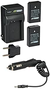 Wasabi Power Battery (2-Pack) and Charger for Nikon EN-EL20, Nikon EN-EL20a, Nikon Coolpix A, Nikon 1 AW1, Nikon 1 J1, Nikon 1 J2, Nikon 1 J3, Nikon 1 S1, Nikon 1 V3, and Blackmagic Pocket Cinema Camera