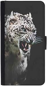 Snoogg Leopard Furydesigner Protective Flip Case Cover For Htc M8