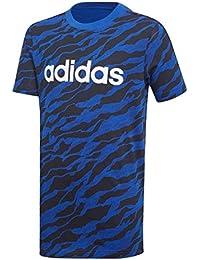 adidas Jungen Linear Print Kurzarm T-Shirt