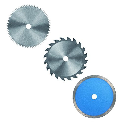 Einhell Mini-Handkreissägen Set TC-CS 860 (450 W, max. 23 mm, Sägeblatt Ø 85 mm, Absaugadapter, Parallelanschlag, 2 Sägeblätter, 1 Diamant-Trennscheibe, Koffer)