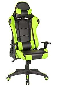 Sedia Gaming, IntimaTe WM Heart Sedia Lussuosa Schienale Reclinabile Alto Cuoio Sedia Girevole Direzionale Regolabile Ergonomica Poltrona Girevole Sedia del Gioco Computer,verde