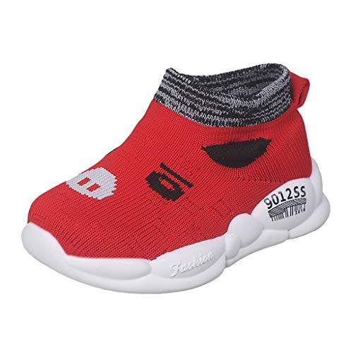 Comode Scarpe Piccole Boutique Bambini Scarpe Sportive per Bambini Primi Camminatori Scarpe per Trazione Scarpe da Ginnastica Leggere Traspiranti Palestra Fitness Sneaker Alta