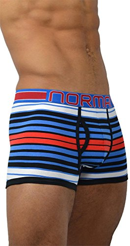 6 x normani® Herren Style Boxershorts aus Baumwolle mit Elasthan im 6er Pack Nasa Stripes