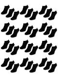 10 bis 50 Paar Comfort Sneaker Socken - Schwarz & Weiß - Damen & Herren - 36-42 40-46 - Herrensocken Damensocken - Sockenkauf24
