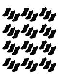 10 Paar Comfort Sneaker Socken - Naft - Damen & Herren - 40-46 - Schwarz