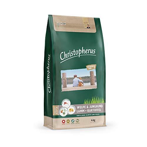 Christopherus Grainfree Trockenfutter für Welpen und Junghunde, Für kleine bis große Rassen, Lamm + Kartoffel, 4 kg