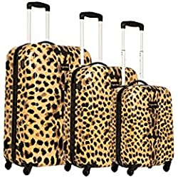"""Myleene Klass Juego de maletas""""set"""", leopardo (Multicolor) - MKLLMKLEOPARD"""
