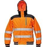 CERVA Knoxfield Warnschutz-Pilotenjacke Winterjacke Arbeitsjacke mit Reflexstreifen Orange Größe XS