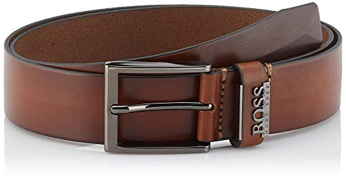 BOSS Herren Senol Gürtel, per pack Braun (Medium Brown 210),105 - Leder Boss Braun Hugo