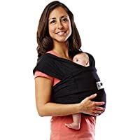 Baby K'Tan Baby Cotton Carrier (Medium, Black)