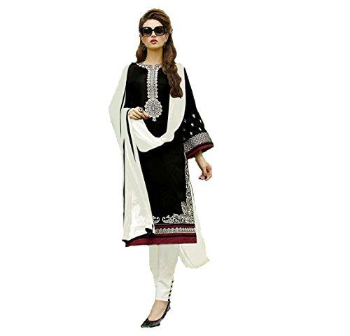 vaankosh fashion women Black Cotton Salwar Suit and partywear dress materials