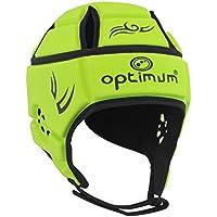OPTIMUM HWCFLUS - Casco de Rugby, Color Amarillo (Fluorescent Yellow/Black), Talla S