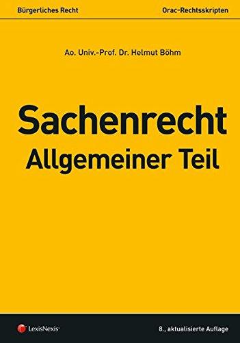 Sachenrecht Allgemeiner Teil (Skripten)