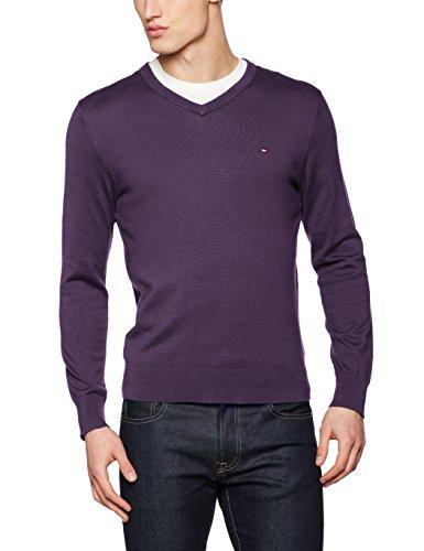 Tommy Hilfiger Herren Pullover Prime Ctn V-nk Cf Violett (Sweet Grape 515)