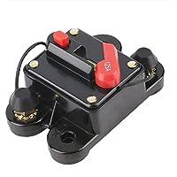 Funnyrunstore 50A 60A 80A 100A 125A 150A 200A 250A opcional Fusible del disyuntor en línea del audio del coche para 12V protección SKCB-01-100A (Estilo: 125A)