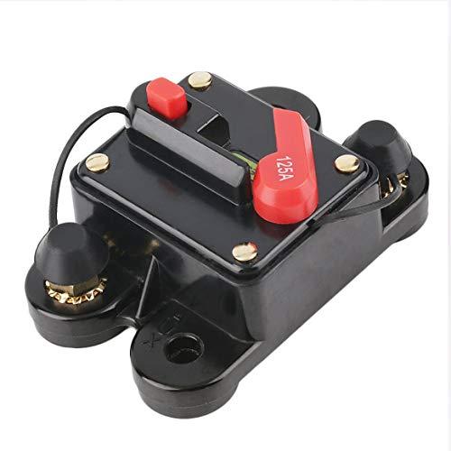 Funrunnstore 50A 60A 80A 100A 125A 150A 200A 250A optional Car Audio Inline-schutzschalter Sicherung für 12 V Schutz SKCB-01-100A (stil: 125A) (Car-audio-sicherungen)