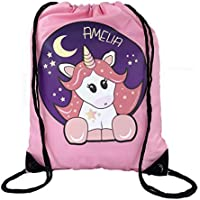 e2fd015bbd64 The Supreme Gift Company Personalised Kids Pink STAR UNICORN Drawstring  Swimming