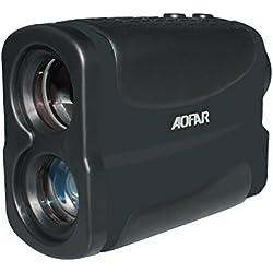 AOFAR Telémetro de Golf Caza 700m Impermeable, 6X 25mm ocular Telescopio telémetro láser Medición de Distancia de velocidad Función de escanea y en niebla Batería a gratis