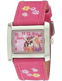 Barbie BW007C - Reloj analógico de cuarzo para niña con correa de plástico, color rosa
