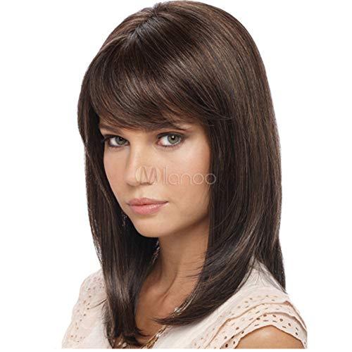 Parrucca parrucche nuova parrucca donna europea e americana moda frangia obliqua capelli corti ricci amazon