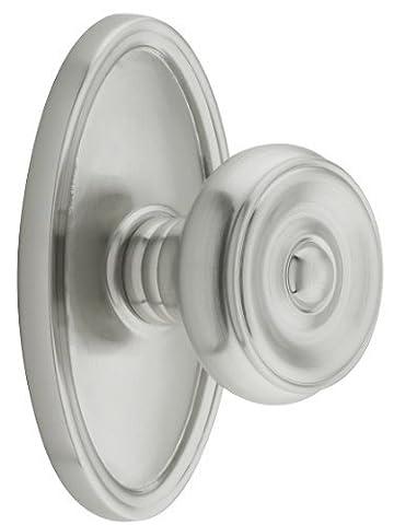 Oval Rosette Set With Waverly Knobs Passage In Satin Nickel. Vintage Brass Door Knobs. by Emtek