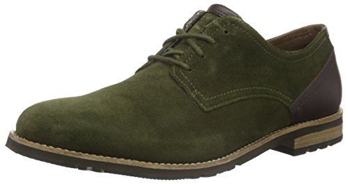 Rockport Ledge Hill Too Plain Toe Blucher, Derby homme Vert - Grün (Beech)