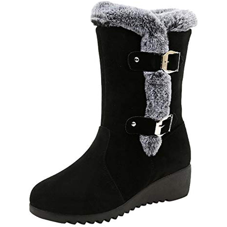 Bottes de Neige Femmes Binggong Chaussures Bottes Cuissardes fourrées d'hiver Bottes fourrées Cuissardes Femmes Bottes Slip-on Soft... - B07JFC46B7 - bc3f0b
