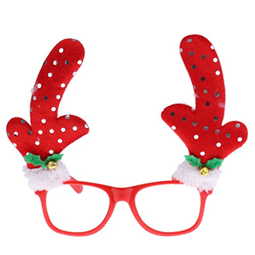 MagiDeal Neuheit Weihnachten Party Kostüm Brille Rahmen Weihnachtsschmuck Kinder Spielzeug - (Paar Kostüme Von Bilder Halloween)