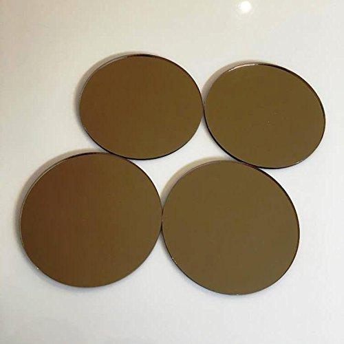 Rund Kind sicher bruchsicher Wand Fliesen-Bronze Spiegel, Pack of 10 - 6cm Diameter