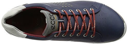 2015 ECCO Biom Hybrid 2 Spikeless Waterproof -Yak Leather Mens Golf Shoes [True Navy/Brick,EU 46= 11.5-12UK]