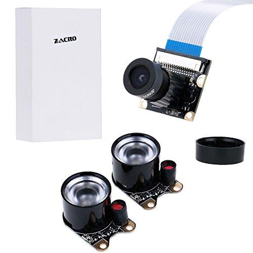 41M8RFGKy7L - Zacro Módulo de Cámara con Sensor Cámara de Vídeo de HD Soporte Visión Nocturna para Raspberry Pi 3 Modelo B B + A + RPi 2 1 Cámara SC15