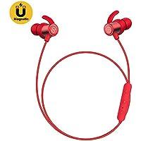 SoundPEATS Auriculares Bluetooth 4.1 Magnéticos In-Ear Cascos Deportivos Inalámbricos con Mic, Resistente al Agua IPX6, MAX Duración 8 Horas para iPad, iOS Android Móviles Smartphones PC (Rojo)
