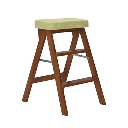 Oudan Holz Klappleiter Hocker Trittleiter 3 Tier for Kinder Erwachsene Sitzbank for Bibliothek Home Küche (Farbe : Eine Farbe, Größe : EINHEITSGRÖSSE) -