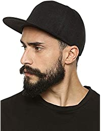 15ab562dd42 MoohMaya Cotton Adjustable Leather Belt Strapback Baseball Cap for Men and  Women (89454698244