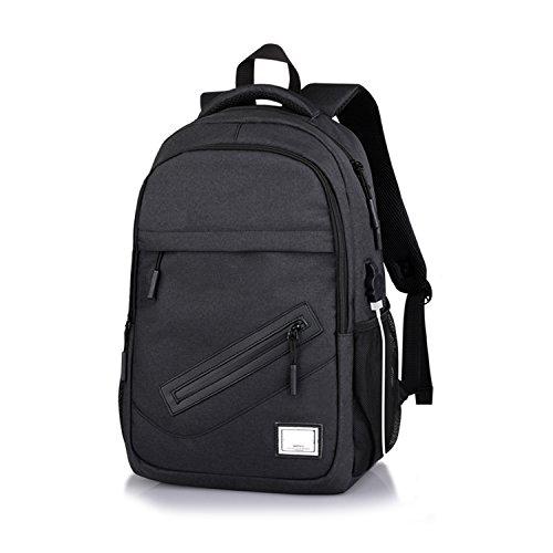Wsnh888 borsa a tracolla esterna oxford borsa a ricarica usb per il tempo libero zaino multiuso da uomo,black